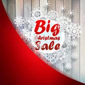 A flocos de neve-natal com grande venda. + eps10 — Vetorial Stock