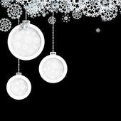 Black and White christmas. + EPS10 — Stock Vector