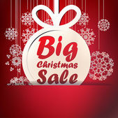 Christmas Big Sale template. — Stock Vector
