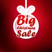 Christmas Sale card. + EPS10 — Stock Vector