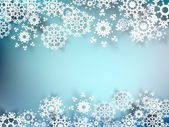 Christmas postcard with paper snowflakes. EPS 10 — 图库矢量图片