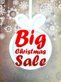 Christmas sale background. + EPS10 — Stock Vector