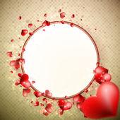 Abstrakt glöd mjuka hjärtan. + eps10 — Stockvektor