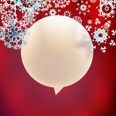 Christmas speech bubbles with snowflakes. EPS10 — Wektor stockowy