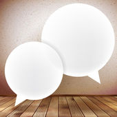 Speech bubble on wooden background. plus EPS10 — Stock Vector