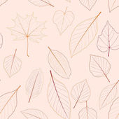 Seamless color leaves pattern. plus EPS10 — Vector de stock