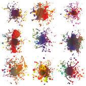 カラフルな塗装は白地にはね。プラス eps10 — ストックベクタ