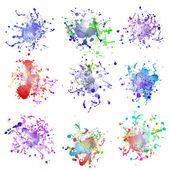 Colorful paint splashes on white. plus EPS10 — Stockvektor