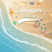 Summer holidays template. plus EPS10 vector file — Stock Vector
