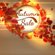 Autumn Sale background with copyspace. plus EPS10 — Stock Vector #51223175
