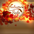 Autumn Sale background with copyspace. plus EPS10 — Stock Vector