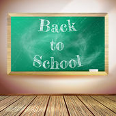 Chalkboard with Back to School text. EPS10 — Stock Vector