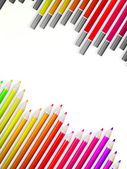 Back to school with multicolored pensils. EPS10 — Cтоковый вектор
