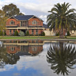 Australian family house on the lake — Stock Photo