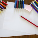 School composition,colour pens and pencils — Stock Photo #12900377