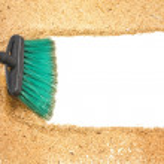 Sweep, wood shaving on white background — Stock Photo