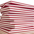 Stock Photo: Pile of red books