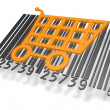 Barcode with shopping cart — Stock Photo #12908487