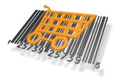 Barcode with shopping cart — Stock Photo
