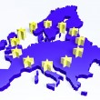 3d european union map — Foto de Stock