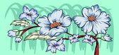 Projekt kwiatowy tło wektor — Wektor stockowy