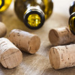 Bottles and corks — Stock Photo