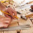 Carpenter working — Stock Photo #22367589