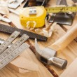 Carpenter tools - Stock Photo