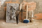 Cement mortar tools — Stock Photo