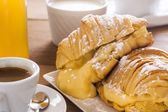 Croissants of custard — 图库照片