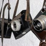 Vintage cameras — Stock Photo