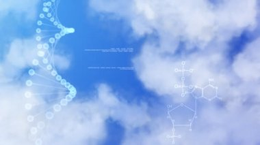 DNA on background of sky. — Stock Video