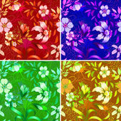 Floral wallpaper. — Stock Vector