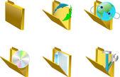 3d-pictogrammen — Stockvector