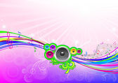 Musical flowing background. — Stock Vector