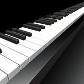 Teclado de piano. — Vector de stock