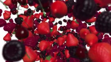 Heart from berries. — Stock Video