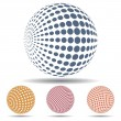 Stock Vector: 3d abstract spheres