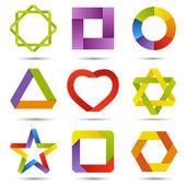 Kleur pictogrammenset — Stockvector