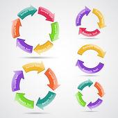 Circle arrows — Stock Vector