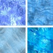 Seamless ice textures set — Stock Photo