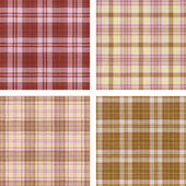 Seamless cloth textures set — Stock Photo