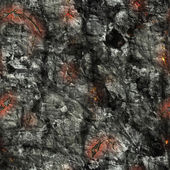 Seamless stone and fire texture — Stock Photo