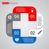Nowoczesne wektor szablon projektu medyczne — Wektor stockowy