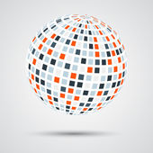 Abstract color sphere — Stock Vector