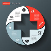 Modern vector template for your medical project — Vecteur