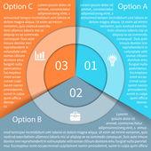 Moderní grafické informace pro obchodní projekt — Stock vektor