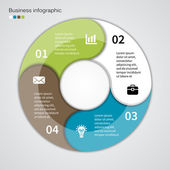 Modern vector info graphic for business project — Vettoriale Stock