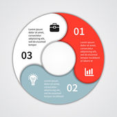 Modern vector info graphic for business project — Wektor stockowy