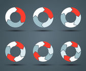 Modern vector circle arrows for info graphic — Vecteur